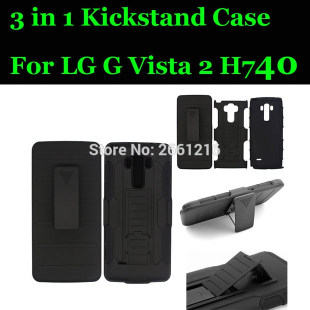 For LG G Vista 2 Shockproof Future Armor Belt Clip Holster Case With Kickstand Cover For LG G Vista 2 Vista2 GVista2 H740 5.7""