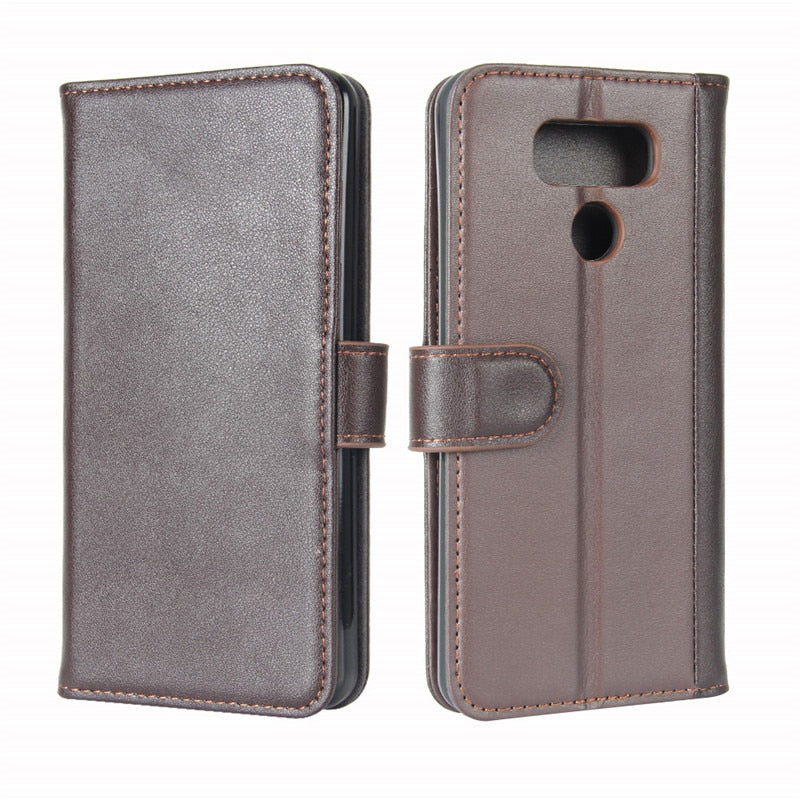 reputable site c19f8 d0ba4 For LG G6 Case 5.7 Inch Luxury Wallet Genuine Leather Flip Case For LG G6 G  6 H870DS H870 H873 Protective Cover Bag