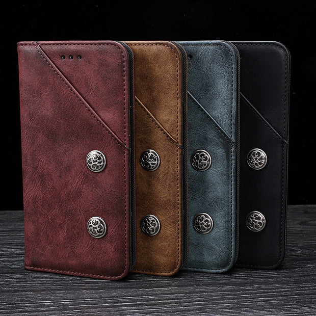 For Meizu 16th Case Business Flip Leather Wallet Case For Meizu 16 Luxury High Quality Card Holder Case For Meizu 16 Th 6.0 Inch