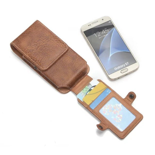 For Motorola E5/ E5 Play/ E5 Plus/ G6/ G6 Play/ G6 Plus Pu Leather Waist Bag Clip Belt Pouch Phone Holster Case