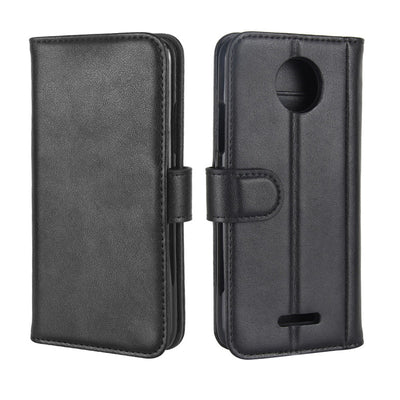 For Motorola Moto C Plus Case 5.0 Inch Genuine Wallet Leather Flip Case For Motorola Moto C Plus XT1723 XT1724 Phone Cover Bag