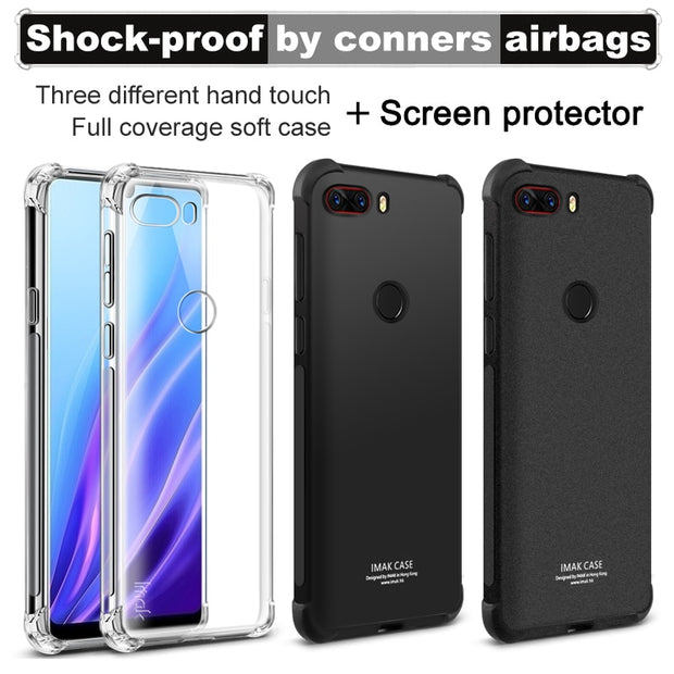 For Nubia Z18 Case IMAK Soft Silicone TPU Airbag Back Cover Case For Nubia Z18 Phone Cases Gift Screen Protector