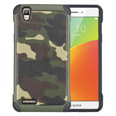 For OPPO A33 Hybrid Armor Plastic + TPU 2 In 1 Army Camo Camouflage Rear Cover For Oppo Neo 7 Case