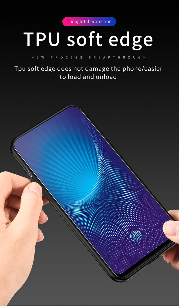 For OPPO F11 Pro Case Ultra-thin Leather Texture Canvas Soft Silicon Cover For OPPO F11 Pro Fabric Case Protective Capa (M228)