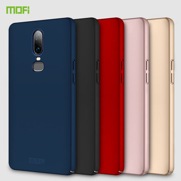 For OnePlus 6 Case 6.28 Inch MOFi PC Protective Back Cover OnePlus6 Phone Shell Hard Case For One Plus 6 Cover Funda Coque Capa