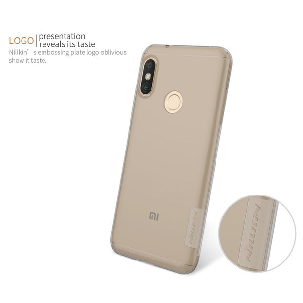 For Redmi 6 Pro Case Nillkin Nature Clear Soft Silicon TPU Protector Case Cover For Xiaomi Redmi 6 Pro/ Mi A2 Lite Phone Case