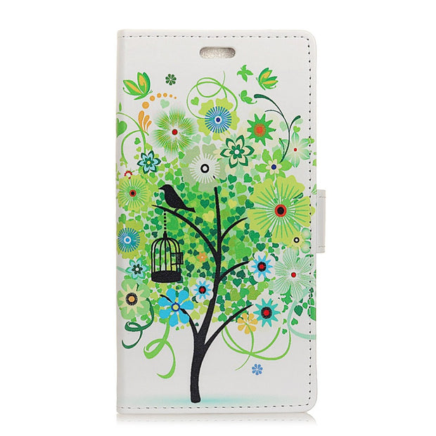 For Redmi Note 7 Fruit Trees Ladybug Tiger Cat Owl Bird Colorful IMD Patterned PU Leather Flip Cover For Xiaomi Redmi Note 7