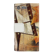 For ( SONY Xperia XZ Premium ) Case Maple Tower Skin Leather Wallet Flip Cover SFor SONY Xperia XZ Premium Mobile Phone Coque
