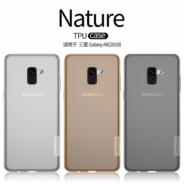 For Samsung Galaxy A8 2018 Galaxy A530F NILLKIN Nature TPU Soft Back Cover Case With Retail Package