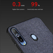 For Samsung Galaxy A8s Case Ultra-thin Leather Texture Canvas Soft Silicon Cover For Samsung Galaxy A8s Fabric Case Capa (M228)