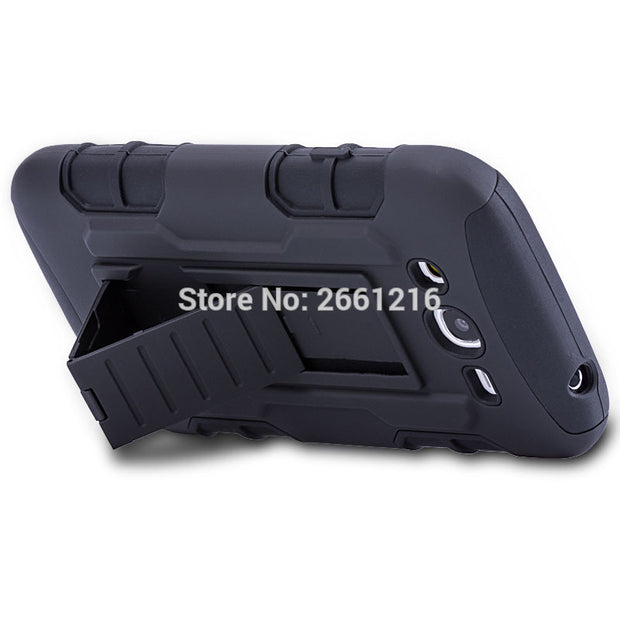 For Samsung Galaxy Grand Neo I9060 Duos I9082 5.0 Inch Shockproof Future Armor Belt Clip Holster Case With Kickstand Cover