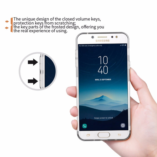 For Samsung Galaxy J7 Plus Galaxy C8 Galaxy C7100 NILLKIN Nature TPU Soft Back Cover Case With Retail Package