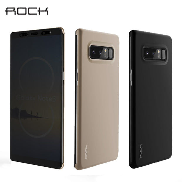 For Samsung Galaxy Note 8 Note 7 Case ROCK Dr.V Luxury Smart View Full Window Flip Case For Samsung Note 8 TPU+PC Phone Covers