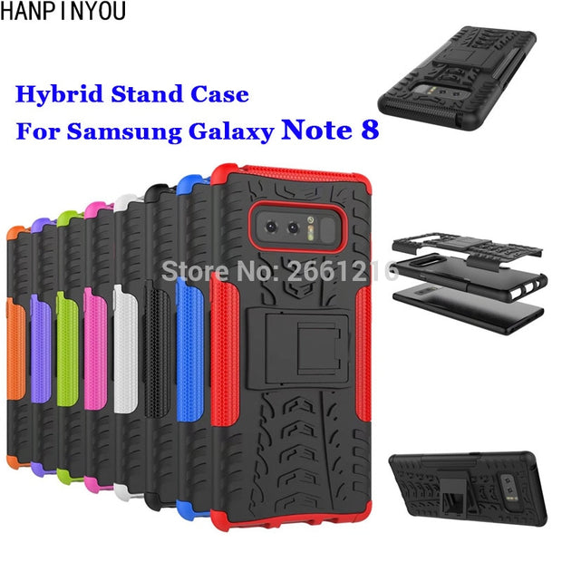 "For Samsung Galaxy Note 8 Note8 N950 6.3"" Dazzle Shockproof Soft Silicon & Hard Plastic Dual Armor Back Case Stand Holder Cover"
