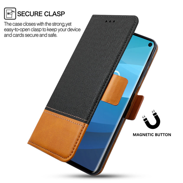 For Samsung Galaxy S10/S10e/S10 Plus Phone Case Flip Stand Card Holders Wallet Case For Samsung Galaxy S10 Phone Fundas Capa