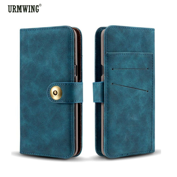 For Samsung Galaxy S8 Plus Case PU Leather Magnetic Phone Wallet Case For Samsung Galaxy S7 Edge S8 S9 Plus Flip Cover
