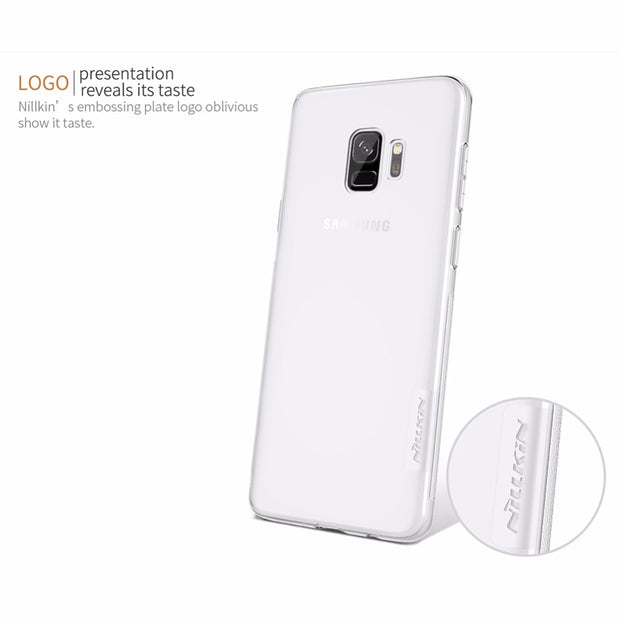 For Samsung Galaxy S9 Plus Galaxy S9 NILLKIN Nature TPU Soft Back Cover Case With Retail Package