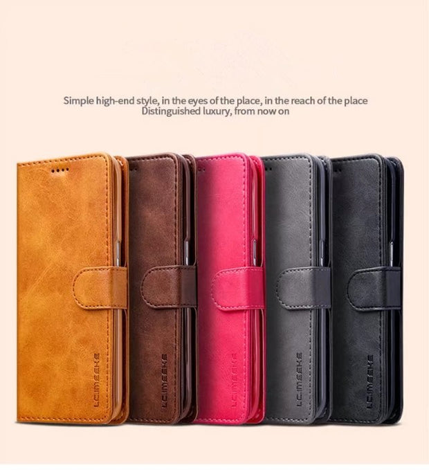 For Samsung Galaxy S9 S8 Plus S6 S7 Edge Note 8 Case Luxury PU Leather Flip Wallet Case Magnetic With Card Slots S9 Case Coque