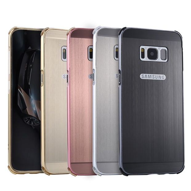 For Samsung S8 Plus S8Plus S8+ Case Plating Metal Frame With Back Cover Hard Case For Samsung Galaxy S8 Plus Anti-knock Cover