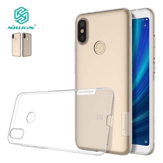 For Xiaomi Mi 6X Mi A2 NILLKIN Nature TPU Soft Back Cover Case For Xiaomi 6X Transparent Clear Silicon Case With Retail Package