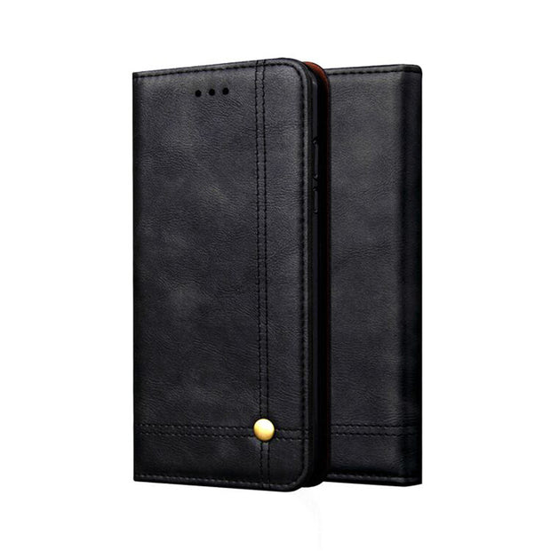 For Xiaomi PocoPhone F1 Retro Magnetic Flip PU+Leather Wallet Case Stand Cover Case Silicon Coque Shell Back Cover