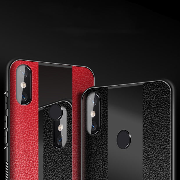For Xiaomi Redmi Note 5 6 Pro 6A S2 Case Leather Plexiglass Silicone Cover For Xiaomi Mi 8 A2 Lite Mi8 Se Mi6X Max 3 Mix 2s Case