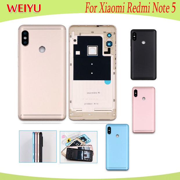 online store 1f6c2 d2bd1 For Xiaomi Redmi Note 5 Battery Case 5.99''With Radiating Film Replacement  Slim Protective Battery Cover For Xiaomi Redmi Note 5