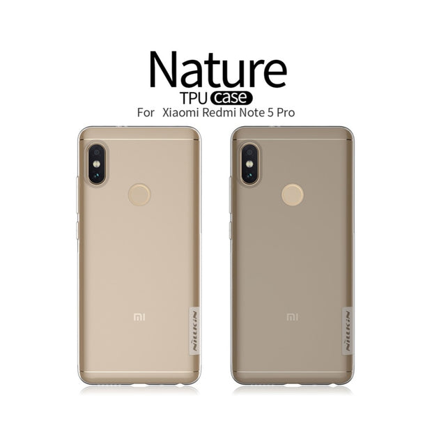 For Xiaomi Redmi Note 5 Pro NILLKIN Nature TPU Soft Back Cover Case For Xiaomi Redmi Note 5 TPU Case With Retail Package