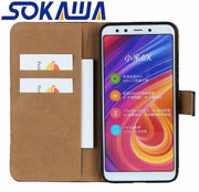 For Xiaomi Redmi Note 5 Pro & Xiaomi Redmi S2 Flip Case Genuine Leather Redmi Y2 Kickstand Protection Card Shell Wallet Cover