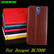 "For Coque Doogee BL7000 Case 5.5"" Wallet Back Skin Flip Leather & Silicone Capa For Doogee BL7000 Cover Phone Fundas Stand Pouch"