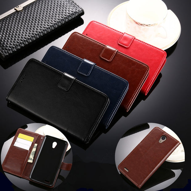For Coque ZTE Blade A210 Case Luxury Wallet Flip Leather & Silicone Back Skin Stand Capa For ZTE A210 A 210 Cover Fundas Pouch