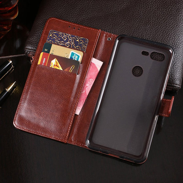 For Coque ZTE Nubia N3 Case Leather & Silicone Wallet Flip Pouch Capa For ZTE N3 Nubia N 3 Cover Back Skin Fundas Phone Bag Case