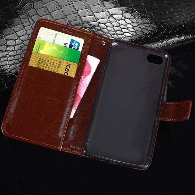 "For Coque Ipod Touch 5 Case 4"" Wallet Flip Leather & Silicone Back Skin Capa For Ipod Touch 6 Cover Business Phones Fundas Pouch"