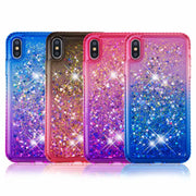 For I Phone XS Max Case Cover Jewelled Liquid Case For Iphone XR Cover Dynamic Glitter Silicone TPU Cover XS Max XS XR Funda