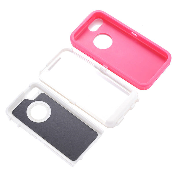 For IPhone 5C Rotatable Back Clip Screen Protector Belt Clip 360 Degree Full Body Shockproof Impact Holster Hard Plastic Holder