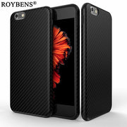 For IPhone 6 6S Case New Environmental Fiber Carbon Case For IPhone 7 / IPhone 7 Plus Soft Silicone Skin Black Tire TPU Cover