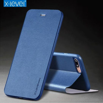 For IPhone 8 Case IPhone 7 X-Level Business Style PU Leather Flip Phone Case For IPhone 6 6s Plus Stand Cover For Iphone X