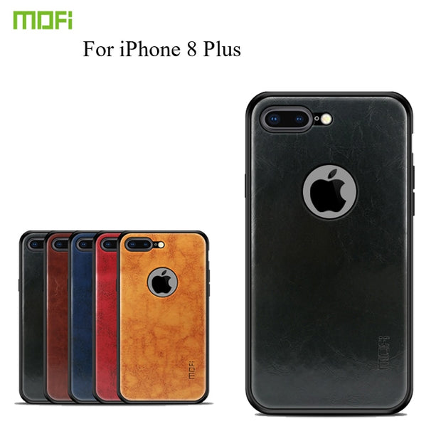innovative design 16d7b 5a482 For IPhone 8 Plus MOFi Case Cover Back Cover Silicone Edge Shockproof Case  Coque For IPhone 8 Plus Phone Shell Cover