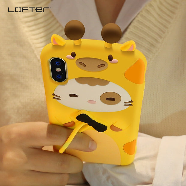 For IPhone X XS Case Silicone 3D Cartoon Soft Phone Cover For ...