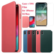 For IPhone XS Max 6.5inch Practical Fresh Flip Wallet Leather Case Cover + Film For IPhone XS Max 6.5inch Phone Case Capa Coque