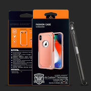 For IPhone XS/XR/XS Max Armor Case Dual Layer Protective Phone Cases TPU+PC 2 In 1 Heavy Duty Back Cover With Retail Package