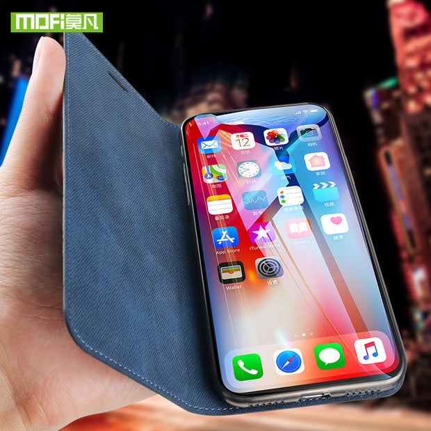 For IPhone Xs Case Flip Leather For Iphone Xr Case Business For Iphone Xs Max Case Cover Silicone Back Funda X Case Stand Holder