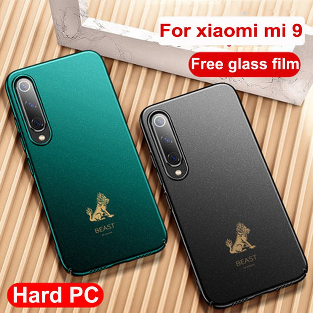 For Xiaomi Mi 9 Case Dragon Beast Lion Pattern Hard PC Frosted Cover For  Xiaomi Mi9 Protective Cases Mi 9 Casing Back Coque 6 39