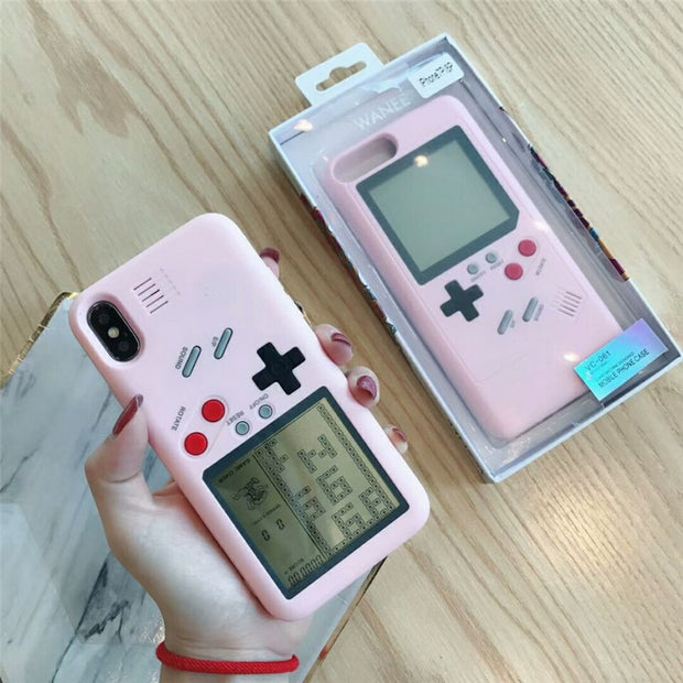 Game Machine Phone Case For Iphone 8 7 6s 6plus XR XS XS MAX Unique Fashion Cute Candy Pink Classic Back Case Coque