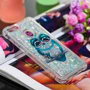 HYYGEDeal Phone Cases Glitter Gilrs Owl Pattern Quicksand Liquid Shockproof Protective Cover Case For Huawei P Smart