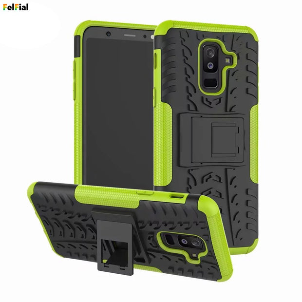 Heavy Duty Hybrid PC+TPU Shockproof Armor Phone Cover For Samsung Galaxy A6 Coque