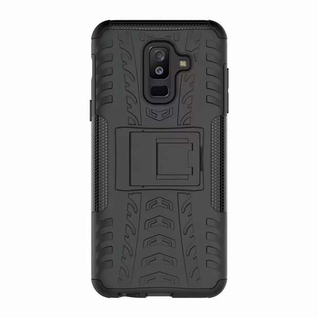 Heavy Duty Hybrid PC+TPU Shockproof Armor Phone Cover For Samsung Galaxy A6Plus Coque