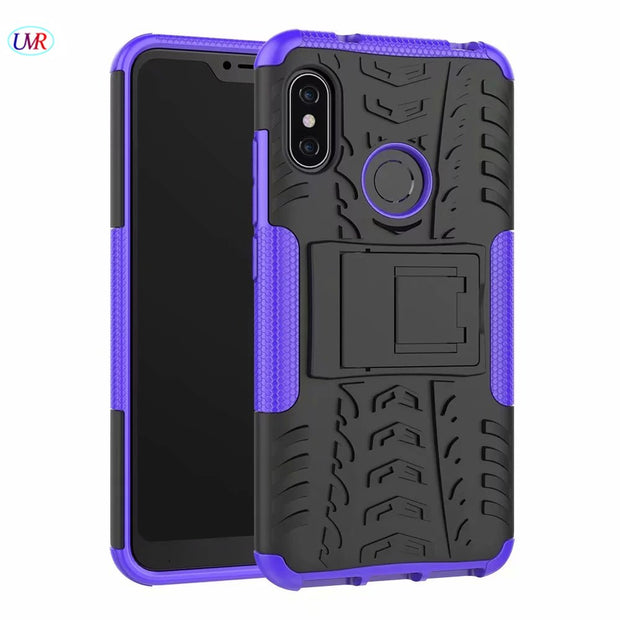 Heavy Duty Hybrid PC+TPU Shockproof Armor Phone Cover For Xiaomi Redmi 6 Pro Coque