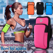 High Quality Sport Phone Pouch Armbag Water-Proof Zippered Fitness Running Arm Bag Pocket Mobile Universal SmartPhone(4-6inches)