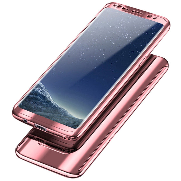 High-end Fashion Solid Color Mirror Plating Hard PC 360 Ultra-thin Protective Cover Skin For Samsung Galaxy S9 Plus 2018 Hot